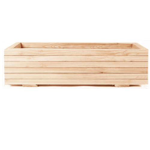 Wooden Larch Troughs for Green Screens Without Posts